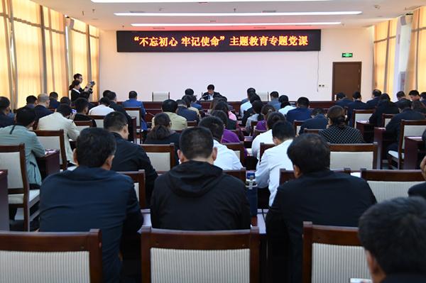 县委副书记、县长曹拥军到产业集聚区讲专题...