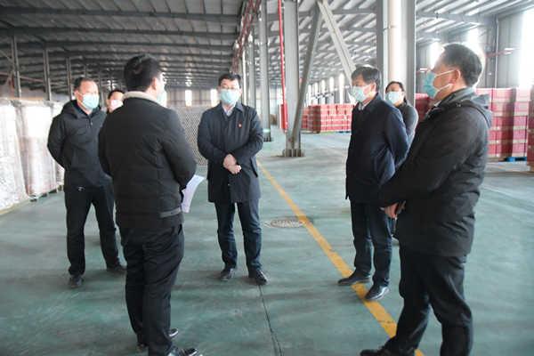 县领导刘冰、曹拥军调研企业复工准备情况