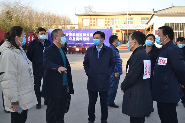 南乐县举行冬春季疫情防控应急演练